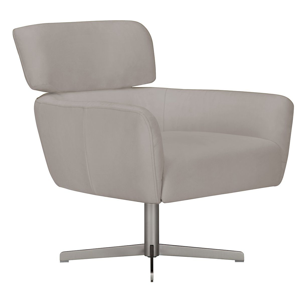 Wynn Light Gray Microfiber Swivel Accent Chair | Living Room With Regard To Aidan Ii Swivel Accent Chairs (View 5 of 25)
