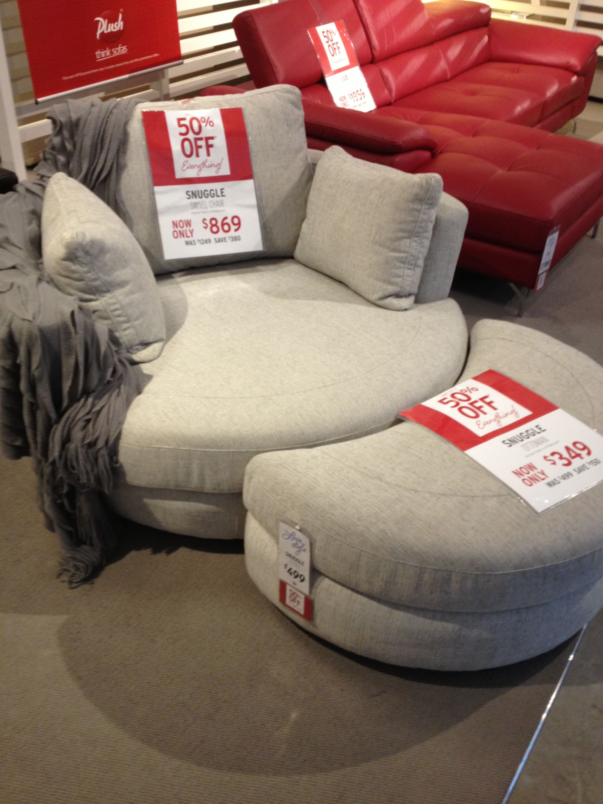 Yes Please!!!! Snuggle Swivel Chair From Plush | Furniture | Chair with Cohen Foam Oversized Sofa Chairs