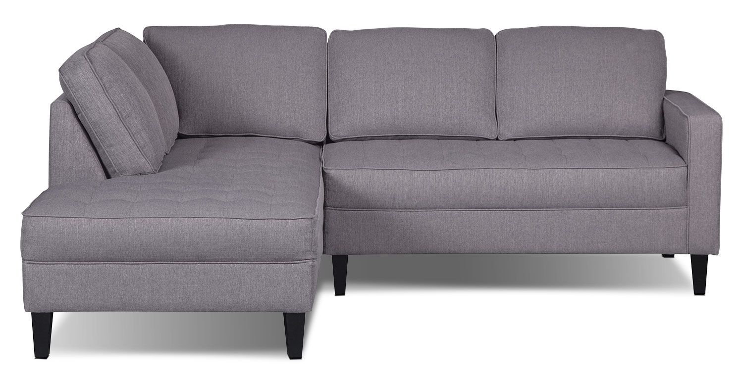 You'll Always Have This Fashionable Paris Two-Piece Sectional From regarding Cohen Foam Oversized Sofa Chairs
