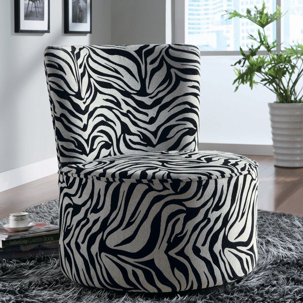 Zebra-Striped Swivel Chair - Linen Chest | Home Decor | Pinterest with Circuit Swivel Accent Chairs