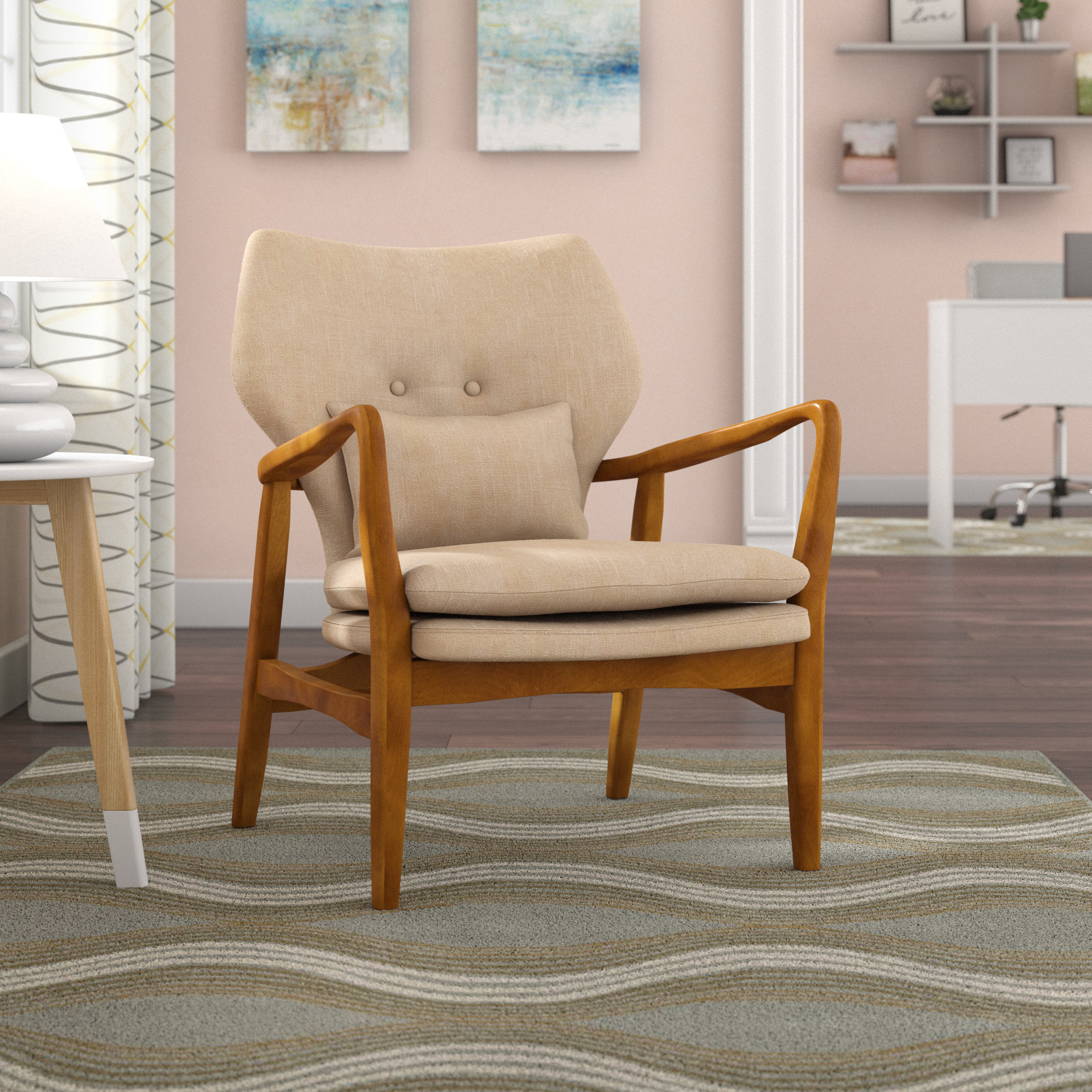 Zipcode Design Andersen Armchair & Reviews | Wayfair intended for Katrina Beige Swivel Glider Chairs