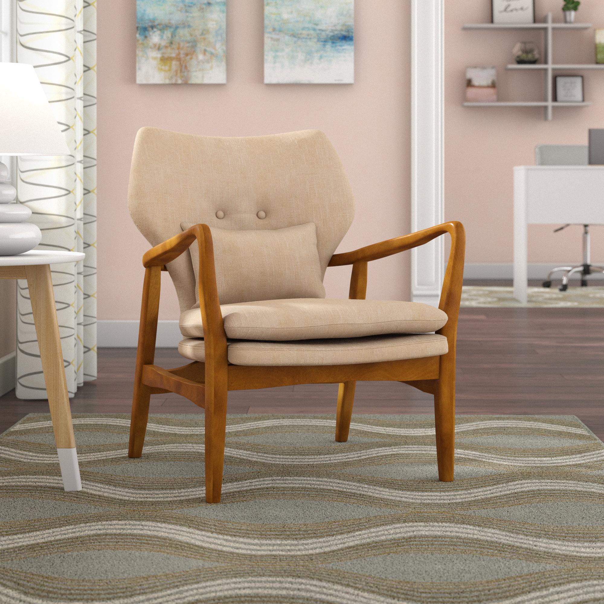 Zipcode Design Andersen Armchair & Reviews | Wayfair Intended For Katrina Beige Swivel Glider Chairs (Photo 13 of 25)