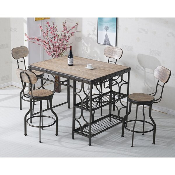 1 Scarlett 5 Piece Dining Setaugust Grove Discount | Kitchen In Partin 3 Piece Dining Sets (Image 1 of 25)