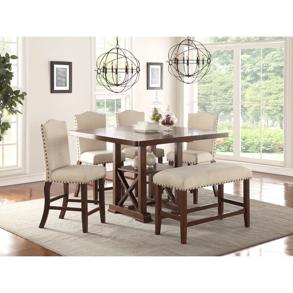 1 Scarlett 5 Piece Dining Setaugust Grove Discount | Kitchen with regard to Partin 3 Piece Dining Sets