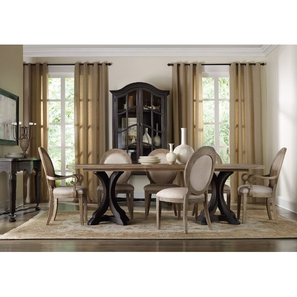 2 Corsica 7 Piece Dining Sethooker Furniture Discount | Kitchen Inside Telauges 5 Piece Dining Sets (View 15 of 25)