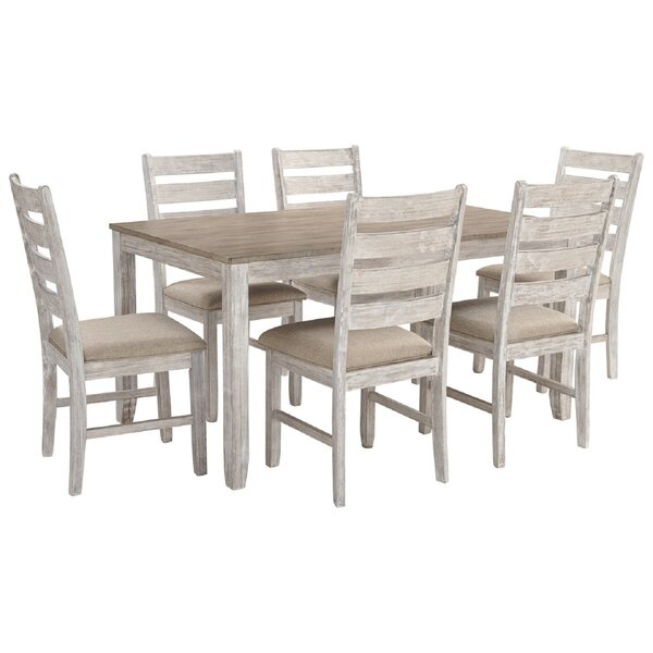 2 Evellen 5 Piece Solid Wood Dining Set (Set Of 5)Warehouse Of intended for Laconia 7 Pieces Solid Wood Dining Sets (Set Of 7)