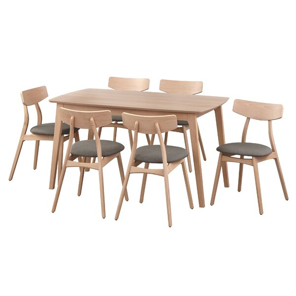 2 Evellen 5 Piece Solid Wood Dining Set (Set Of 5)Warehouse Of throughout Laconia 7 Pieces Solid Wood Dining Sets (Set of 7)