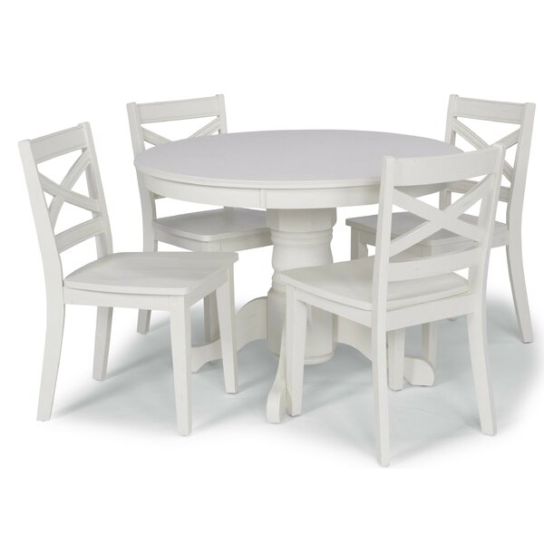 2 Moravia 5 Piece Dining Setlaurel Foundry Modern Farmhouse Within Taulbee 5 Piece Dining Sets (View 25 of 25)