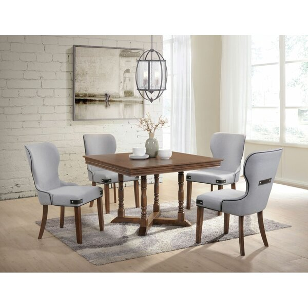 2 Pafford 5 Pieces Dining Setcharlton Home Top Reviews | Kitchen Intended For Evellen 5 Piece Solid Wood Dining Sets (Set Of 5) (Photo 6 of 25)