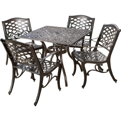 2017 Wayfair Summer Preview Sale: Save 70% Outdoor Furniture, Rugs Regarding Tarleton 5 Piece Dining Sets (Photo 2 of 25)