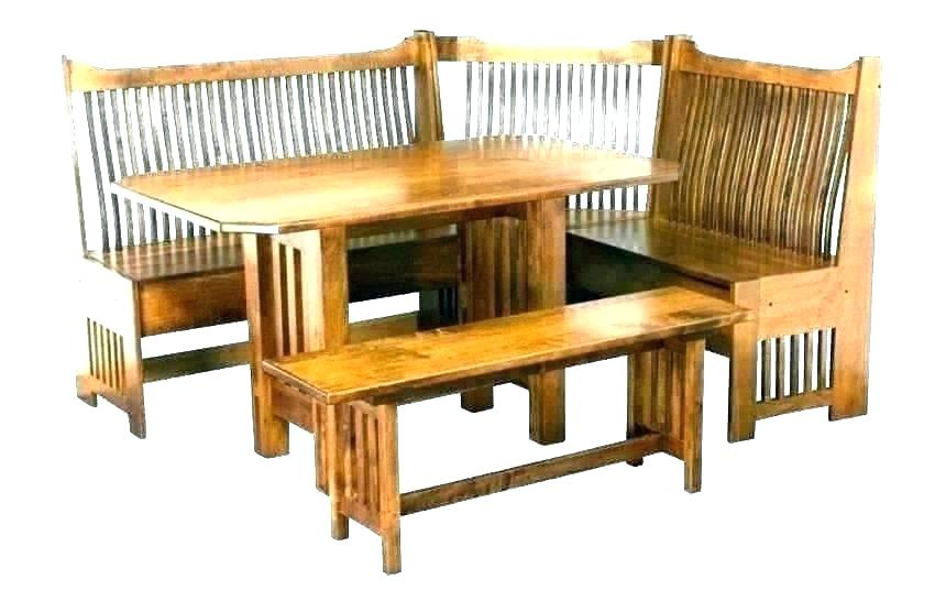 3 Piece Breakfast Nook Birtie Solid Wood Dining Set – Trungtin In Ligon 3 Piece Breakfast Nook Dining Sets (View 16 of 25)