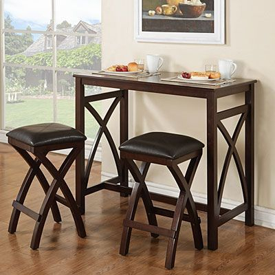 3 Piece Breakfast Pub Set At Big Lots. $159. 42Wx22Dx36H Can Change Throughout 3 Piece Breakfast Dining Sets (Photo 5 of 25)
