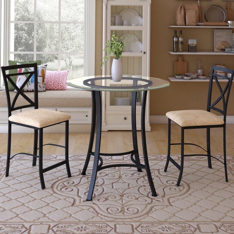 3 Piece Dining Set Counter Height – Ingamecity – In Mizpah 3 Piece Counter Height Dining Sets (View 14 of 25)