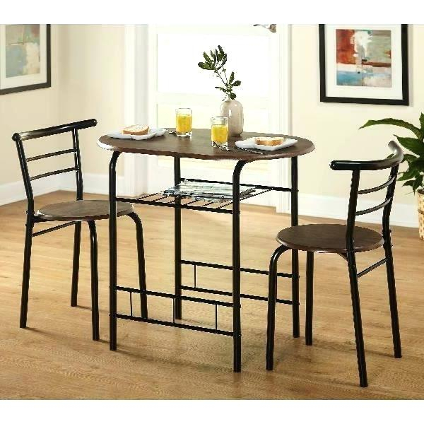 3 Piece Dining Table Seater Round Bistro Set – Fixyourlife (Image 1 of 25)