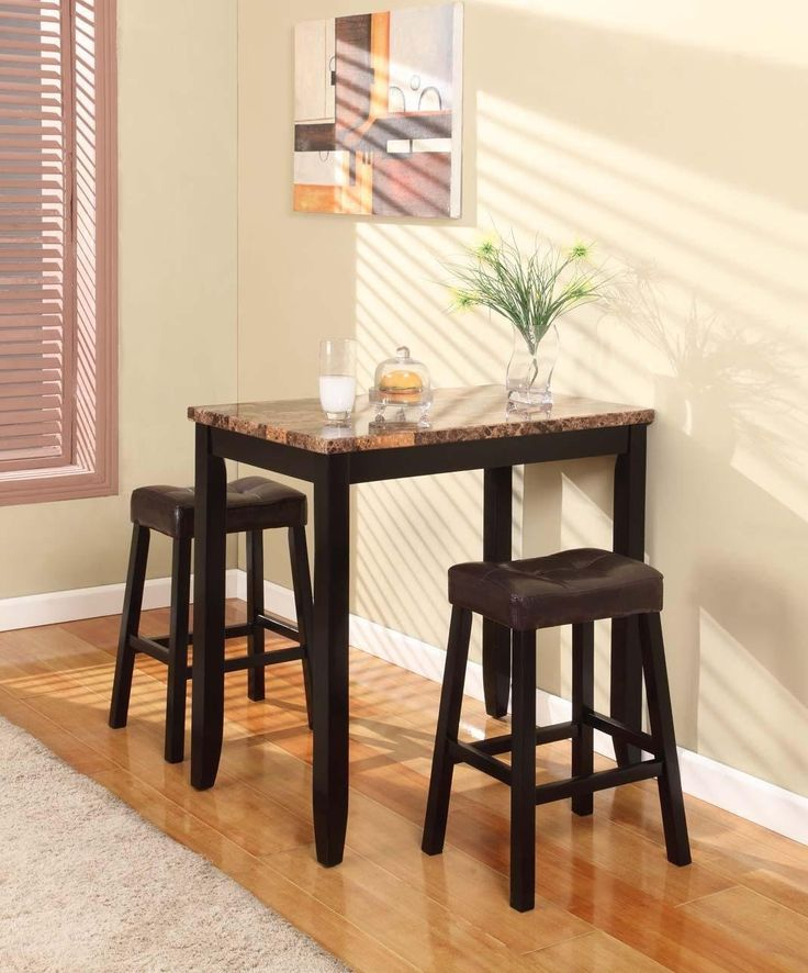 3 Piece Kitchen Table Set & Intended For Tappahannock 3 Piece Counter Height Dining Sets (Image 3 of 25)