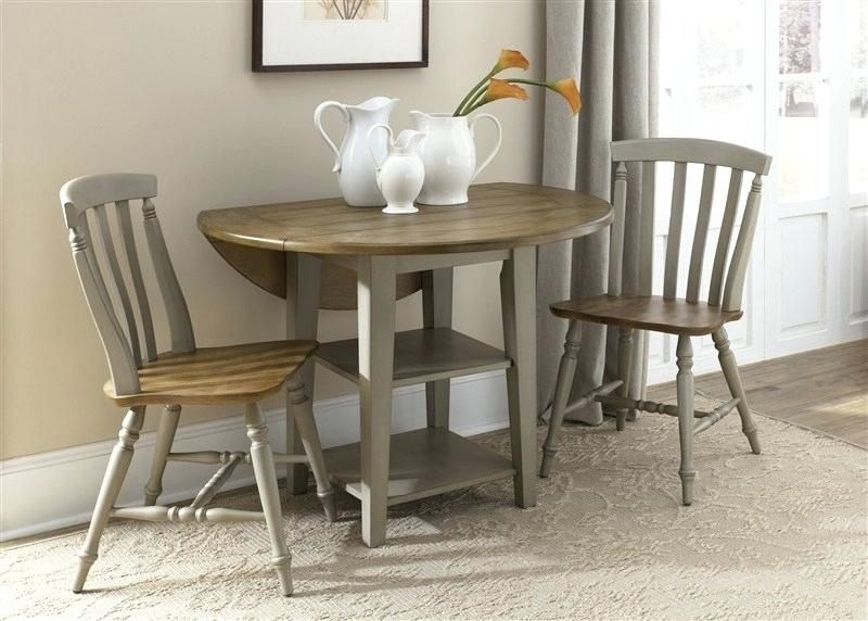 3 Piece Kitchen Table Set & Regarding Tappahannock 3 Piece Counter Height Dining Sets (Image 4 of 25)