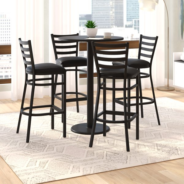 5 Piece Pub Height Dining Set | Wayfair Within Castellanos Modern 5 Piece Counter Height Dining Sets (View 15 of 25)