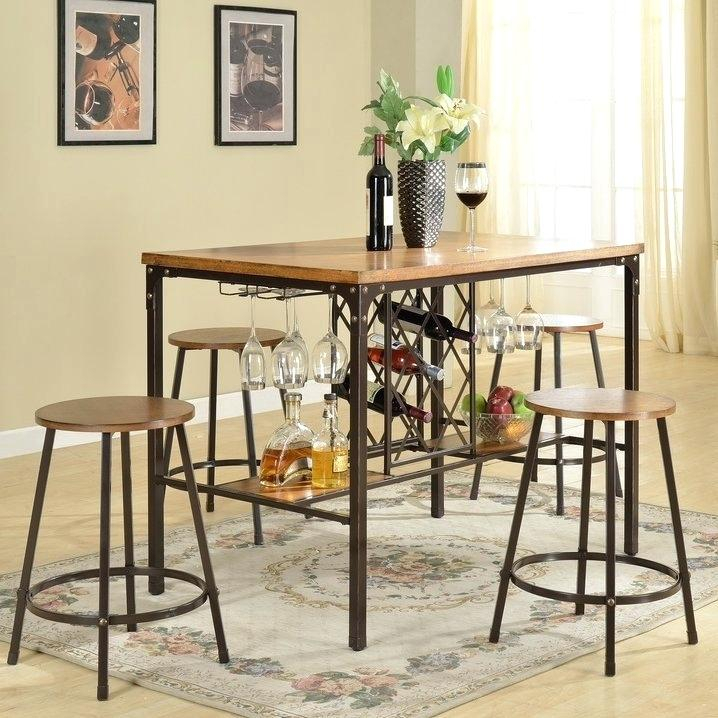 5 Piece Pub Table Set – Innovationsglobal (Image 2 of 25)