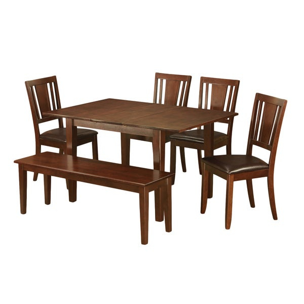 6-Piece Kitchen Nook Dining Set-Breakfast Nook And 4 Dining Chairs And  Dining Bench for Lightle 5 Piece Breakfast Nook Dining Sets