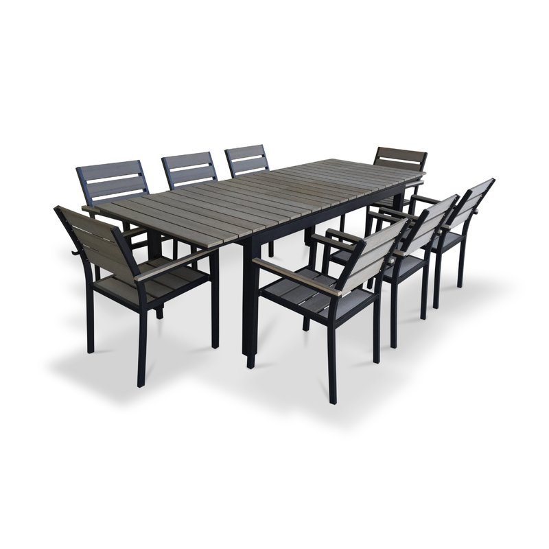 9 Piece Extendable Outdoor Dining Set in Springfield 3 Piece Dining Sets