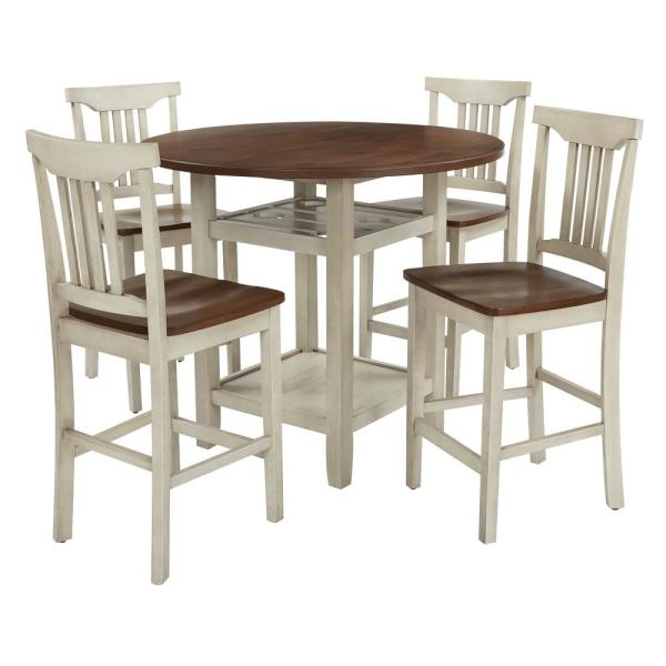 A & B Home Isolde White Polycarbonate Chair Av39000 Whit – The Home Regarding Isolde 3 Piece Dining Sets (View 23 of 25)
