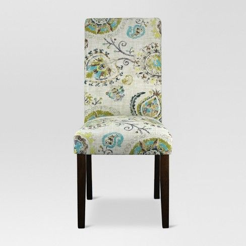 Accent Dining Chair – Avington Print – Threshold™ | Kwd: Rachel Intended For Kaya 3 Piece Dining Sets (Image 1 of 25)
