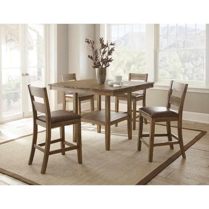 Achenbach 5 Piece Counter Height Dining Set With Pattonsburg 5 Piece Dining Sets (Image 3 of 25)