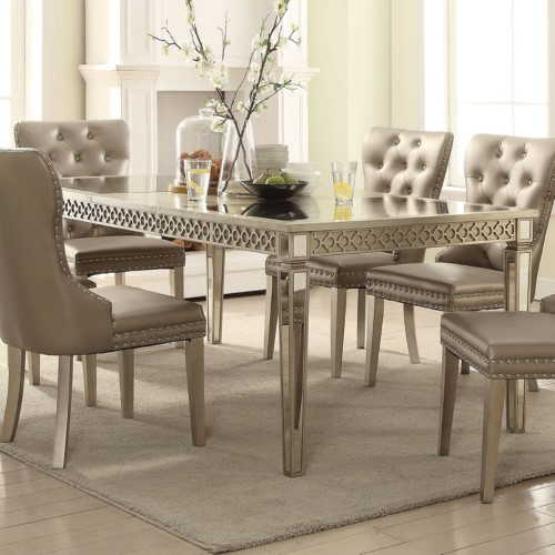 Acme Furniture Kacela Extension Dining Table, Beige | Products Inside Lamotte 5 Piece Dining Sets (View 13 of 25)