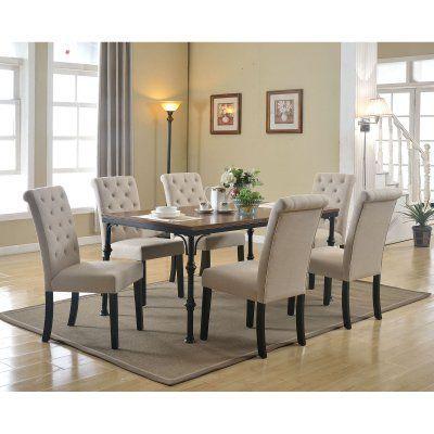 Acme Furniture Vriel 7 Piece Rectangular Dining Table Set – Acm1010 Regarding Tavarez 5 Piece Dining Sets (View 13 of 25)