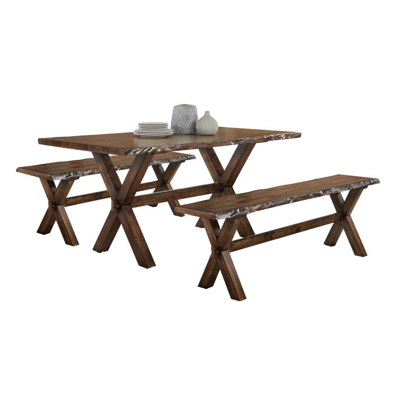 Adeline 3 Piece Breakfast Nook Dining Set Within 3 Piece Breakfast Nook Dinning Set (Image 5 of 25)