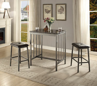A&j Homes Studio Mira 3 Piece Counter Height Dining Set – $ (View 10 of 25)