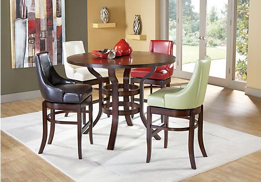 Alder Combo 5 Pc Pub Height Dining Set | Kitchen Tips, And Tricks Inside Rossi 5 Piece Dining Sets (View 23 of 25)
