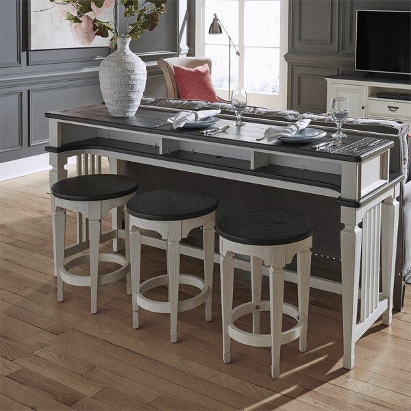 Allyson Park 4 Piece Pub Table Setdarby Home Co Reviews On| Oval Regarding Valladares 3 Piece Pub Table Sets (View 12 of 25)