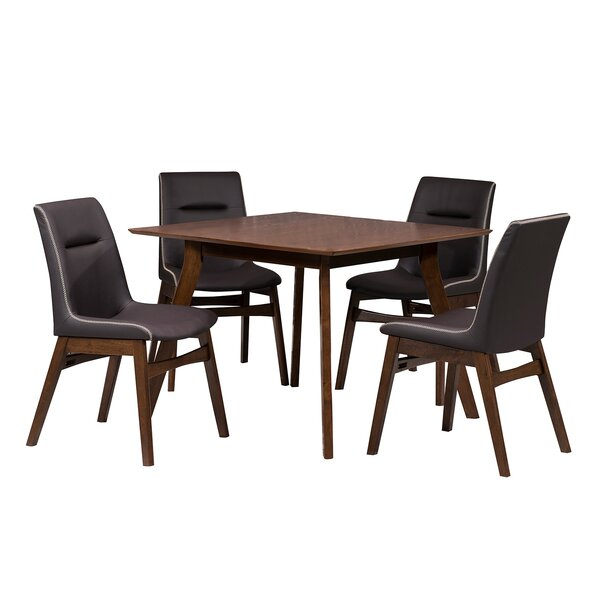 Amazing Phyllis 5 Piece Dining Setwrought Studio Wonderful Intended For Mukai 5 Piece Dining Sets (View 10 of 25)