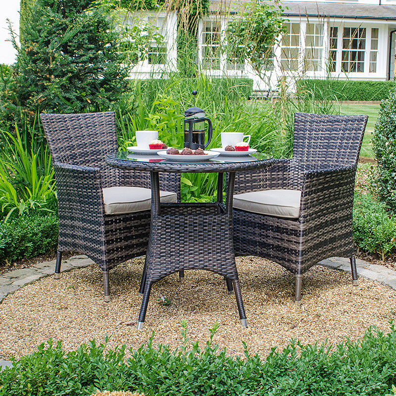 Amelia 2 Seat Bistro Set – Brown With Regard To Kinsler 3 Piece Bistro Sets (View 14 of 25)