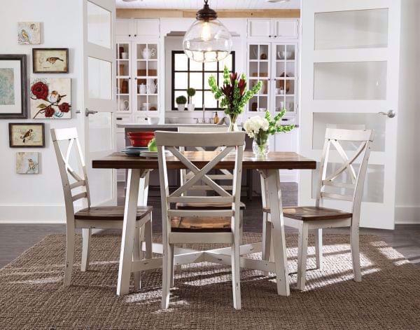 Amelia 5 Piece Dining Table Set – White For 5 Piece Dining Sets (Image 3 of 25)