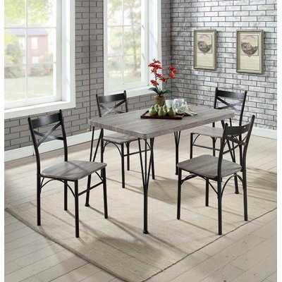 Andover Mills Middleport 5 Piece Dining Set | Products | 5 Piece Within Bearden 3 Piece Dining Sets (Image 3 of 25)