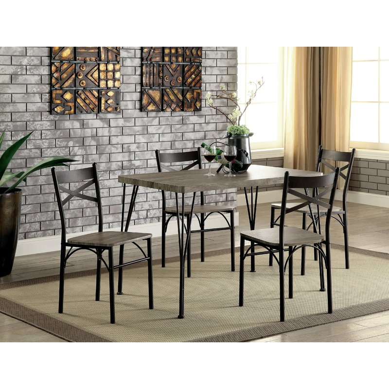 Andover Mills Middleport 5 Piece Dining Set & Reviews | Wayfair With Taulbee 5 Piece Dining Sets (View 18 of 25)