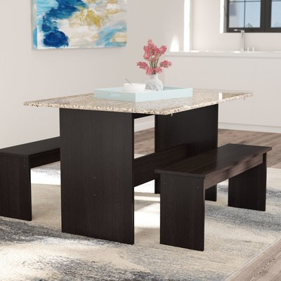 Andover Mills Ryker 3 Piece Dining Set | Products | Kitchen Dining Intended For Rossiter 3 Piece Dining Sets (Image 3 of 25)