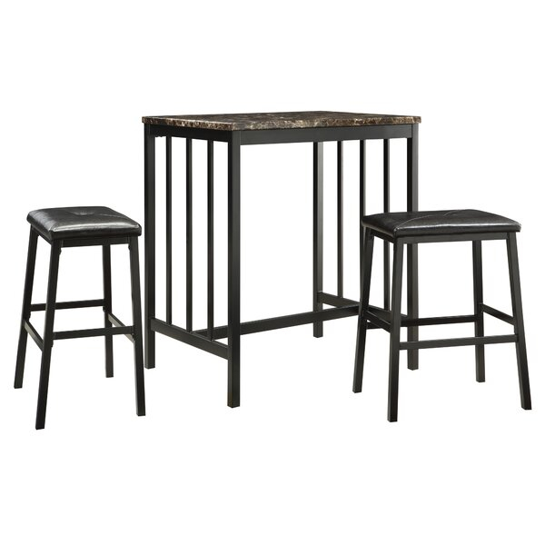 Featured Image of Anette 3 Piece Counter Height Dining Sets