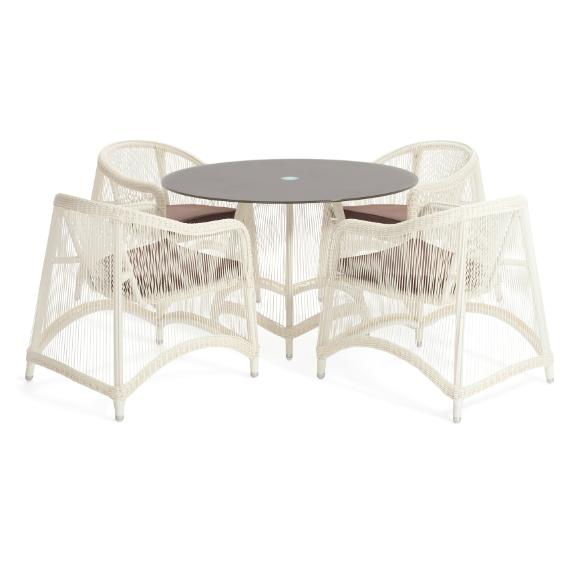 Aria 5 Pieces Oval Dining Set – Outdoor – Me2Concept Inside Aria 5 Piece Dining Sets (Image 6 of 25)