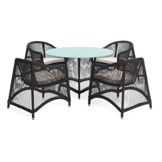 Aria 5 Pieces Oval Dining Set – Outdoor – Me2Concept Within Aria 5 Piece Dining Sets (Image 8 of 25)