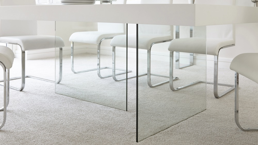 Aria White Oak And Glass Dining Table For Aria 5 Piece Dining Sets (Image 11 of 25)
