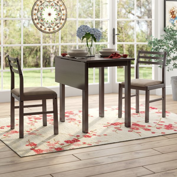 Arquette 3 Piece Dining Set | Wayfair With Regard To Giles 3 Piece Dining Sets (View 7 of 25)