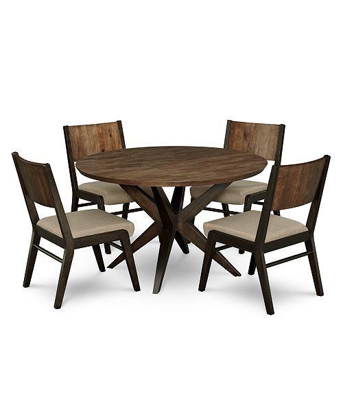 Ashton Round Pedestal Dining Furniture, 5 Pc (View 6 of 25)