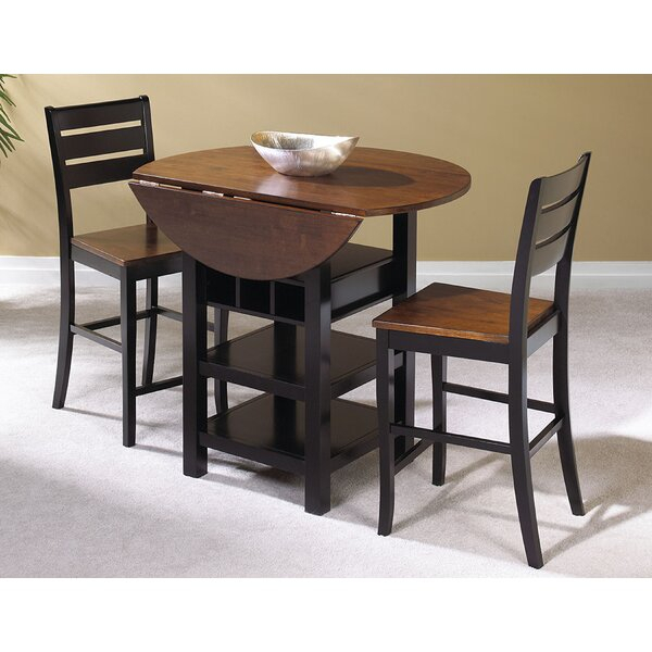 Atwater 3 Piece Counter Height Dining Set For Winsted 4 Piece Counter Height Dining Sets (Image 1 of 25)