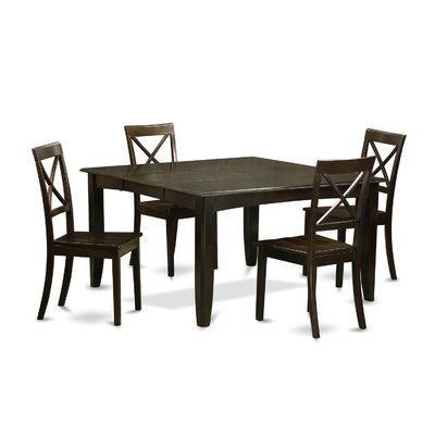 August Grove Pilning Modern 5 Piece Dinning Set | Products | Dining With Regard To Honoria 3 Piece Dining Sets (Image 2 of 25)