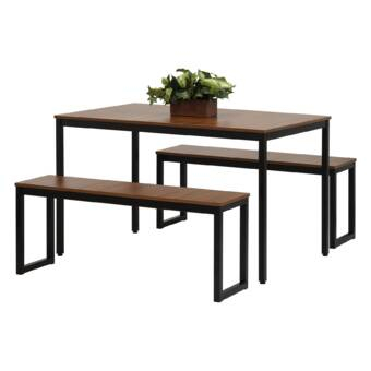 August Grove Tenney 3 Piece Counter Height Dining Set & Reviews Intended For Tenney 3 Piece Counter Height Dining Sets (Image 5 of 25)