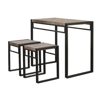 August Grove Tenney 3 Piece Counter Height Dining Set & Reviews With Tenney 3 Piece Counter Height Dining Sets (Image 7 of 25)