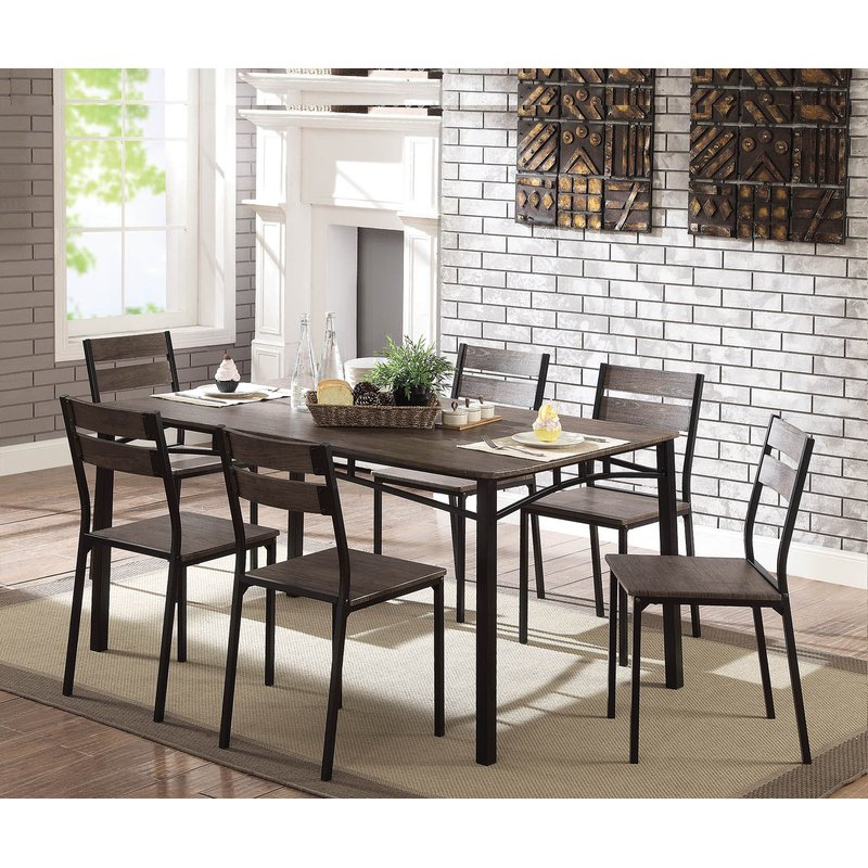 Autberry 7 Piece Dining Set With Autberry 5 Piece Dining Sets (View 4 of 25)